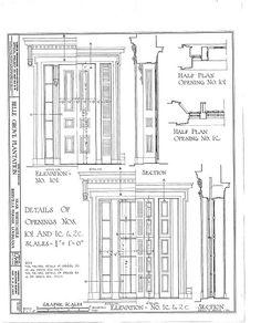 HABS LA,24-WHICA.V,1- (sheet 18 of 36) - Belle Grove, White Castle, Iberville Parish, LA