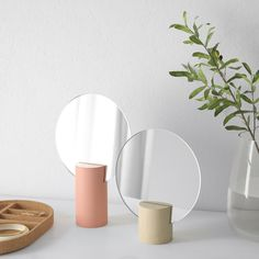 IKEA - LIHOLEN, Mirror, set of pink, aspen, Provided with safety film - reduces damage if glass is broken. Can be used hanging or standing to fit in the space available. Ikea Mirror, Mirror Set, Floor Mirror, Circular Mirror, Ikea Family, Dressing Table Mirror, Window Cleaner, Round Mirrors, Jewelry Displays