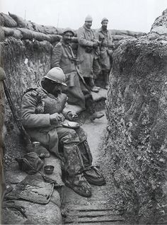 Trench warfare - An individual unit's time in the front-line trench was usually brief; from as little as one day to as much as two weeks at a time before being relieved, a duration was a rare exception. On an individual level, a typical British soldier's year could be divided as follows: 15% front line, 10% support line, 30% reserve line, 20% rest, 25% other (hospital, travelling, leave, training courses, etc.)