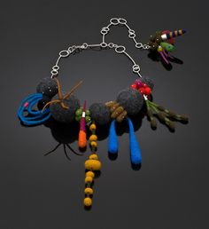 Moxie Necklace - sarah fox makes great felted and silver jewelry