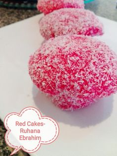 Red Cakes recipe by Ruhana Ebrahim posted on 07 Mar 2018 . Recipe has a rating of by 1 members and the recipe belongs in the Cakes recipes category Snowball Cake Recipe, Snowballs Recipe, Baking Recipes, Cake Recipes, Dessert Recipes, Desserts, Yummy Recipes, Healthy Recipes, Milktart Recipe