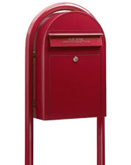 Bobi Classic Front Access Mailboxes Red