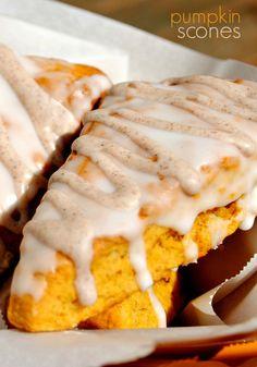 Pumpkin Scones: copycat Starbucks pumpkin scones, better than the real thing! Freeze well too!