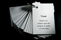 Trust in any relationship is vital..........