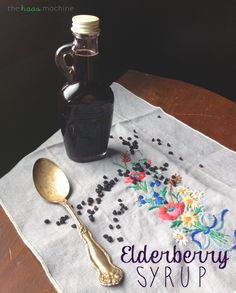 Elderberry Syrup (for natural flu prevention) from The Haas Machine on MyRecipeMagic.com
