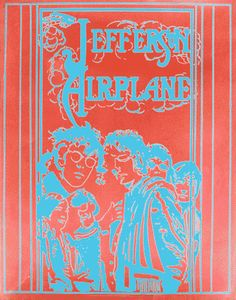 The Jefferson Airplane Poster 1967  A Psychedelic Rock n' Roll Poster Classic