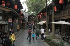 Jinli Street, historic centre by But Seriously, via Flickr
