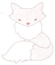 """""""Foxy"""" Fox Applique Design for Wool Diaper Covers (Copyright Chickadee & Me) www.chickadeeandme.com"""