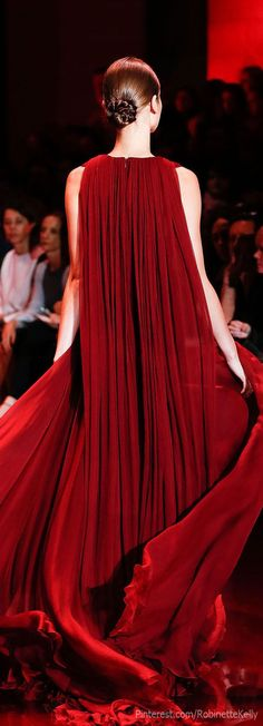 Yule style!! Noel Christmas New Year's Eve!! A gown to take their breath away!! Imagine walking into a party dance or ball in this red dress! What a Holiday Ball gown! Put your hair up and wear a gorgeous red lipstick! Dance away the night! Elie Saab.