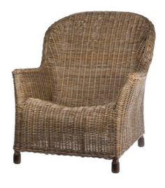 Allissias Attic Design & Vintage French Style — Georgia Full Weave Rattan Chair