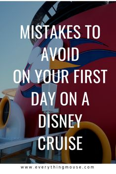 Disney Cruise, Disneyland and Disney World Tips by EverythingMouse Disney Cruise Tipps. Zu vermeidende Fehler am ersten Tag Ihrer Disney-Kreuzfahrt. Disney Cruise Bahamas, Disney Cruise Excursions, Disney Cruise Alaska, Disney Wonder Cruise, Disney Fantasy Cruise, Disney Cruise Door, Disney Cruise Ships, Caribbean Cruise, Packing For A Cruise