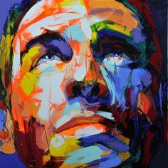 Retratos llenos de energía, fuerza y color  http://www.francoise-nielly.com/