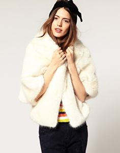 ASOS Film Star Stole In Faux Fur - StyleSays