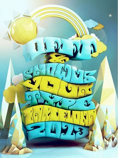 Creative 3D Typography Designs #3D #design Siguenos en Facebook https://www.facebook.com/pages/EXPONLINE/141220162699654