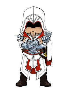 Ezio Auditore Chibi: Assassins Creed Brotherhood by dark-lil-soul