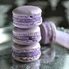 French Macaroons filled with lavendar and rose infused buttercream!:)