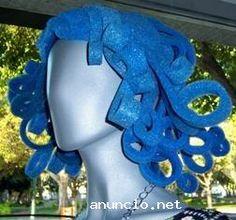 gorros de goma espuma para fiestas Foam Wigs, Pantomime, Foam Crafts, Party Hats, Halloween Fun, Puppets, Cosplay, Wreaths, Costumes