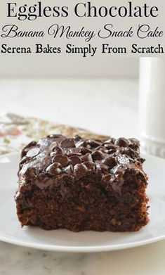 Eggless Chocolate Banana Monkey Snack Cake | Community Post: COFFEE, COFFEE, ALL THINGS COFFEE