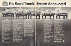 1968 Plymouth Cars Ad Cuda GTX Sport Fury GT Road by AdVintageCom
