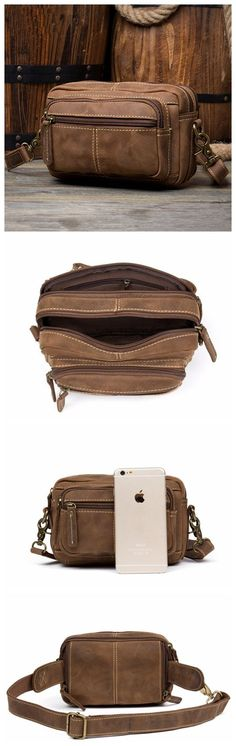 LEATHER WAIST BAG, FANNY PACK, GENUINE SUEDE BUM BAG MS140