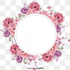 Fragile flower circle big flower group purple pink PNG and PSD Purple Flower Background, Watercolor Flower Background, Frame Floral, Flower Frame, Beautiful Bouquet Of Flowers, Big Flowers, Pink Peonies, Pink Roses, Flower Clipart Png