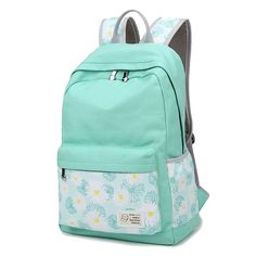 Artone Daypack Floral Daisy Canvas School Backpack With Laptop Compartment -- To view further for this item, visit the image link.