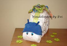 diaper snail / Windelschnecke 'Sterntaler', von Windeltorten By Evi auf DaWanda.com