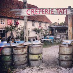 Crêperie Tati & Kutens bensin – Gotlandstips.se  #gotland #gotlandstips #sweden #vintage #unique #creperie #kuten #fårö