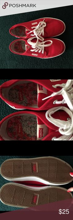 Brand new Levi's Red Levi's. Worn once but don't fit. Levi's Shoes Sneakers