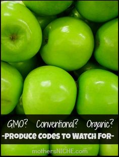 Learn what produce codes mean so that you can avoid buying produce with harmful GMO's