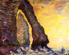 The Rock Needle Seen through the Porte d'Aval Claude Monet - 1885-1886