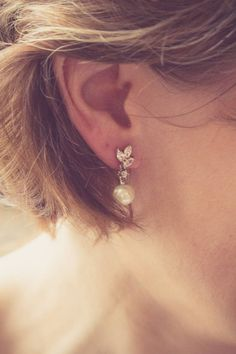 marquise crystal and vintage pearl earrings by wonderful wraps | notonthehighstreet.com