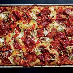 If you prefer a spicy pizza, use twice as much hot soppressata and none of the sweet type.