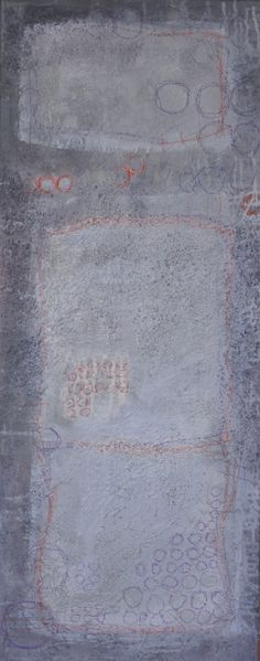 abstrakte Acrylmalerei, abstrakte Kunst, 100 x 40 cm, 2012