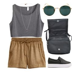CASUAL: Ferry Trip (LL 3.07) by cigerett on Polyvore featuring H&M, Ray-Ban and lucluc