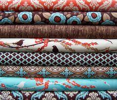 Aviary 2 by Joel Dewberry, Saffron Yarn Inspiration, Living Room Inspiration, Fabric Websites, Fabulous Fabrics, Wood Grain, Damask, Fabric Design, Print Patterns, Just For You