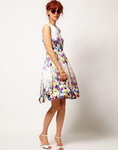 ASOS SALON - Robe de bal de fin d'année à imprimé fleuri