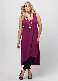 Plus Size Dresses Online | Dresses - Plus Size, Large Size Dresses for Australian Women - KORE HI LO DRESS - TS14