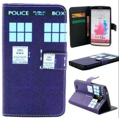 Lg g3 case. Bycase design Tardis Doctor style pattern Premium PU Leather Wallet Flip Protective Skin Case with Magnetic Closure for LG G3 [At&T, Sprint, T-Mobile] (Built-in Credit Card/ID Card Slot):Amazon:Cell Phones & Accessories
