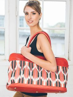 Ikat Jaspe Travel Bag -- Perfect for that weekend getaway you have planned!