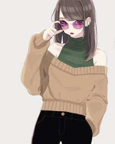 No photo description available. Pretty Anime Girl, Cool Anime Girl, Beautiful Anime Girl, Anime Art Girl, Anime Love, 5 Anime, Kawaii Anime Girl, Korean Anime, Anime Couples Drawings
