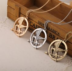 Hunger Games Necklace Mockingjay