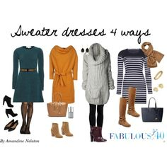 Trying to dress comfortable when we are over 40 can certainly be a challenge.  Why not get that knit dress out of the back of your closet or if you don't have one go out and try one on!