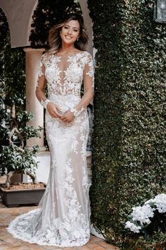 Wedding Dress Sizes, Wedding Dress Sleeves, Bridal Wedding Dresses, Bridesmaid Dresses, Bridal Style, Lace Wedding, Wedding Day, Allure Couture, Bridal And Formal