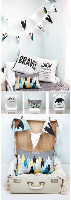 How cute are these boys personalised cushions for their bedrooms?