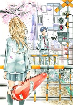 Shigatsu wa Kimi no Uso waiting for the ending in anime..considering how the manga ended it's going to be soo sad