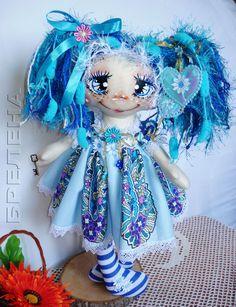 Купить Текстильная кукла . Просто Феечка. - синий, интерьерная кукла, текстильная кукла, забавная кукла