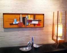 NEW RELEASE - Mid Century Modern Art Abstract Wall Sculpture Painting Retro Eames Era Tiki Mad Men