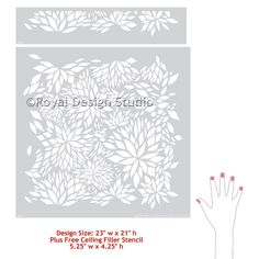 Flower Petal Damask Allover Wall Stencil by royaldesignstencils
