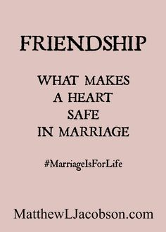 Do you know how to cultivate a deep friendship in your marriage? Here's how . . .